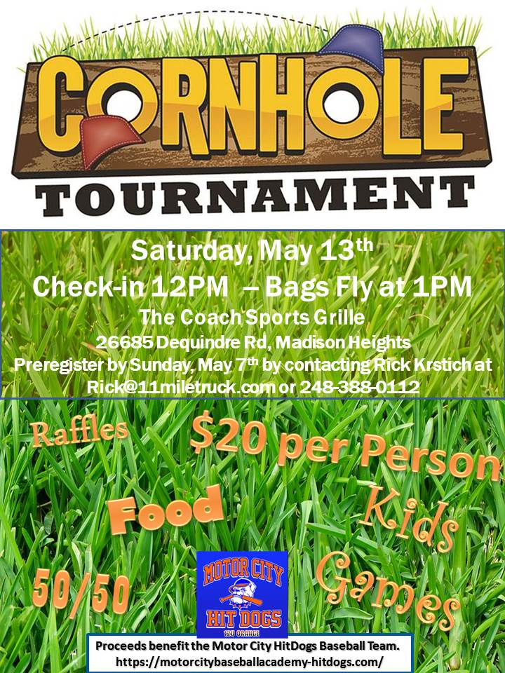 cornhole tournament flyer